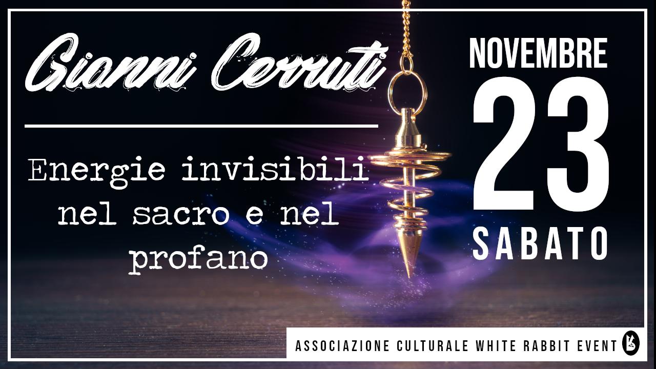 gianni cerruti -radioestesia - energiabiellaevento - white rabbit event