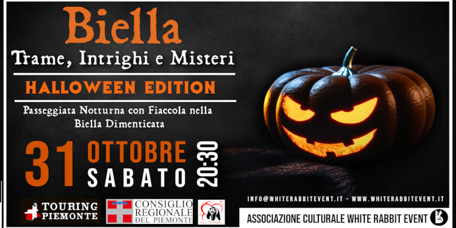 biella - halloween -party -tour -fiaccola -white rabbit event -esoterismo