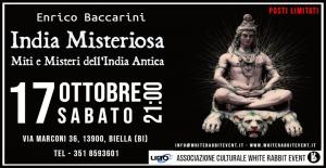 enrico baccarini - uno editori -white rabbit event -accademia biellese -biella- conferenza -india -india antica -annunaki -helohim -biglino -mauro biglino -max caranzano