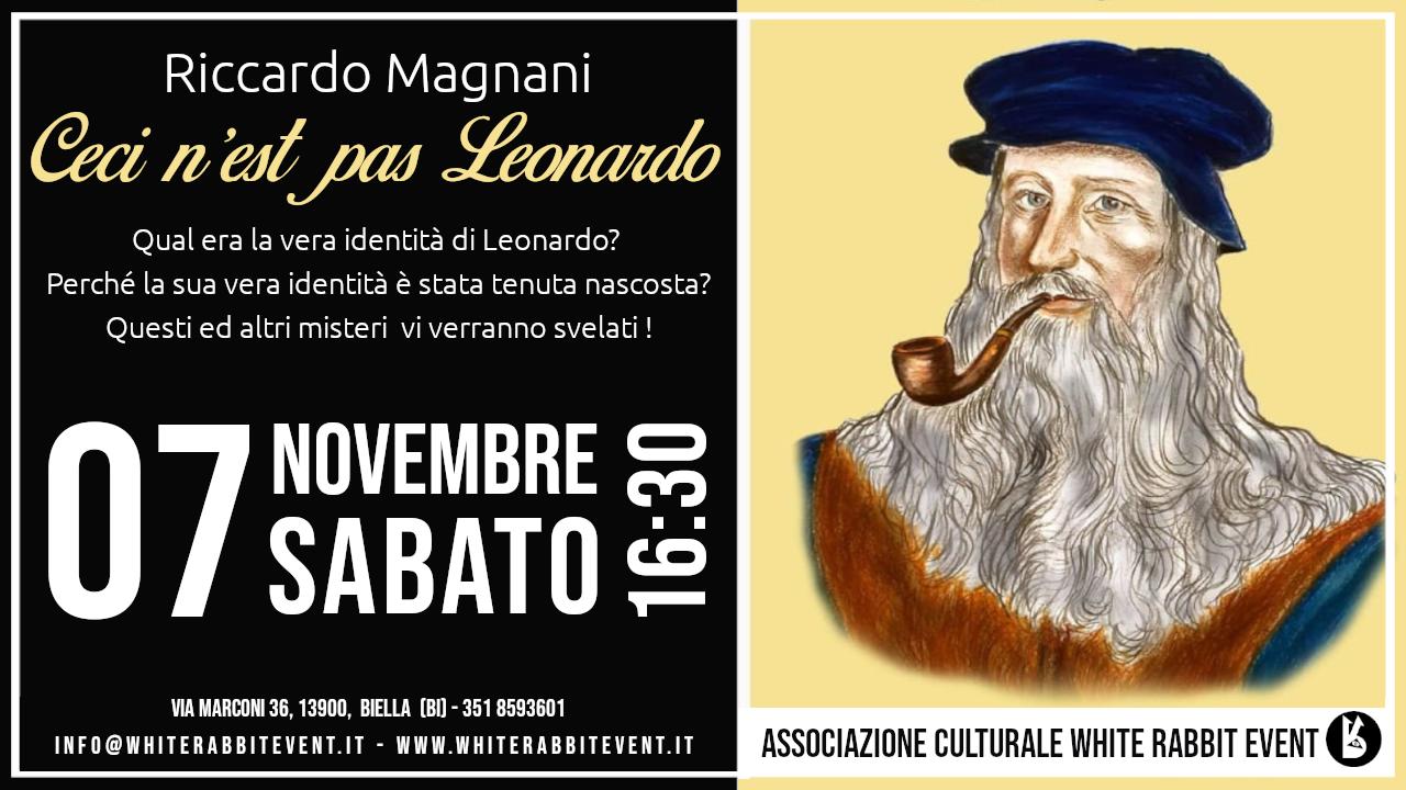 Riccardo Magnani - leonardo -leonardo da vinci - biella- accademia biellese -white rabbit event - conferenza - mistero -rinascimento
